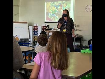 Mrs. Custer's Class During Wolf Den