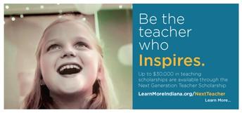NEW - Next Generation Hoosier Educators Scholarship