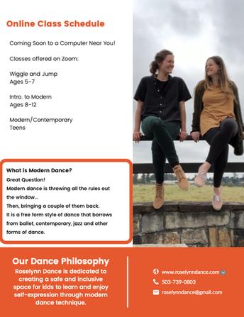 Roselynn Dance Offers Modern Dance Classes on Zoom!