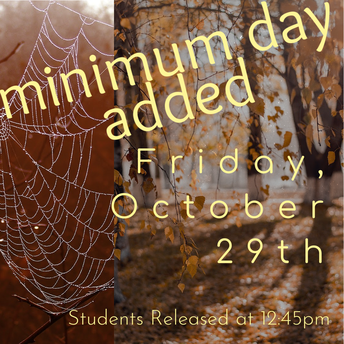 Minimum Day Added for Friday, October 29th