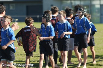 """""""Good game"""" after beating Te Puke Primary School"""