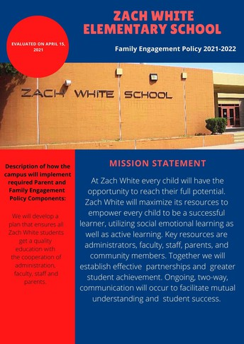 Zach White Family Engagement Policy