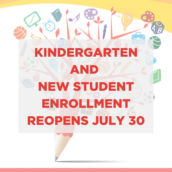 Kindergarten and New Student Registration