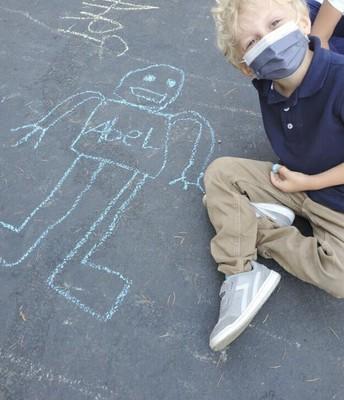 Self Portrait with chalk!