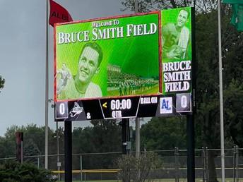 New scoreboard lights up season-opening victory