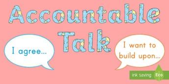 """Using """"Accountable Talk"""" at Home"""
