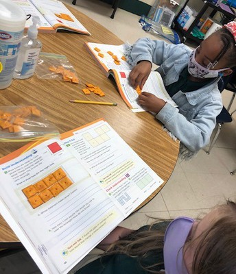 Learning with Cheez-Its in Ms. Edwards' Room