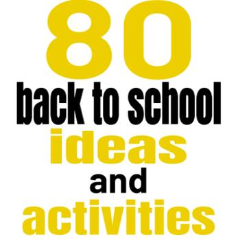 Matt Miller's Updated Mega Back to School Activities List