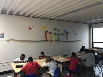Kiddos are loving Art!! Ms Clayton is BEYOND creative!