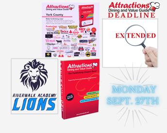Attractions Fundraiser:  Deadline Extended