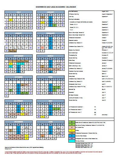 Revised 2021-22 Academic Calendar