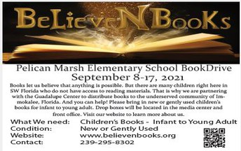 BelieveNBooks Book Drive