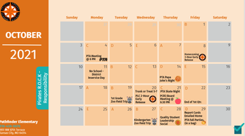 October Parent Calendars