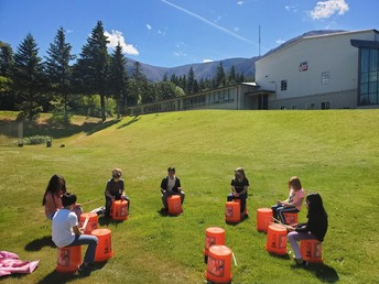 Bucket drumming with Mr. Church