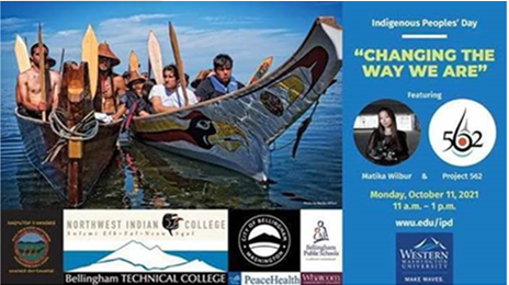 """Indigenous People's Day """"Changing the way we are"""""""