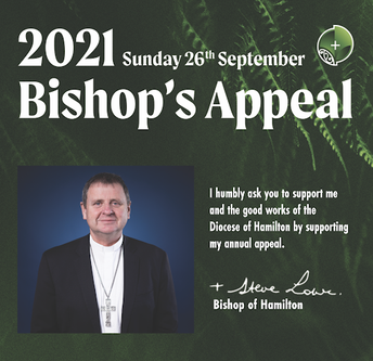 2021 Bishop's Appeal TOGETHER ON THE JOURNEY : In Your Generosity, Support Bishop Steve today to Build a Stronger Faith Community.