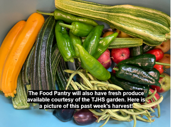 Produce Available at the Food Pantry