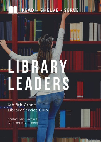 Library Leaders - Application Due Monday, August 23rd