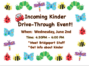 Incoming Kinder Drive-Through Event!