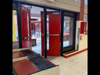 Cafeteria Entrance and exit