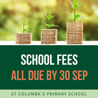 School Fees to be finalised by 30 September
