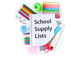 2021-2022 Grade Level Supply Lists