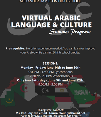 Learn Arabic Over Summer!