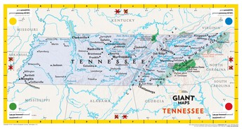 Reserve the Giant Travelling Map of Tennessee Today!