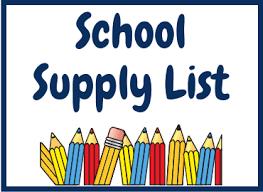 Student Supply List, Teacher Assignments & Open House