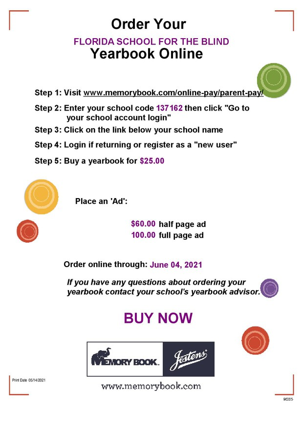 Flyer with instructions for ordering FSDB 2021 Yearbook