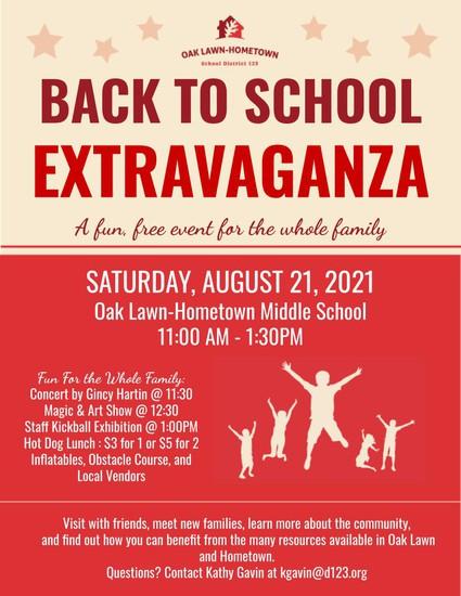 Back to School Extravaganza Flyer