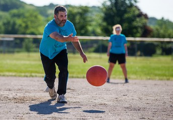 Friday Kickball Games During Lunch