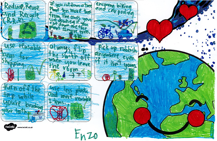 Enzo's Earth poster