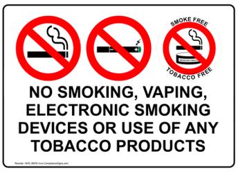 No Vaping, Tobacco, or Marijuana