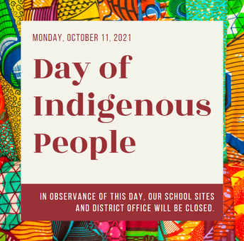 Indigenous Peoples' Day, October 11th