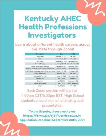 Virtual Health Careers Event