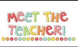 Meet the Teacher Night- Wednesday, September 1
