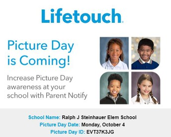 School Picture Day - 10/4/2021