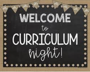 Sneak Peek/Curriculum Night - August 31st