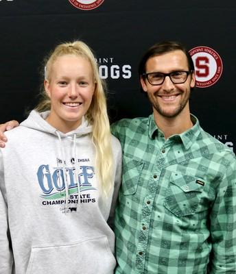 Student, Hattie Larsen and Teacher, Conor Baranski