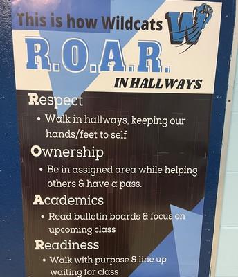 ROAR Hallway Expectations