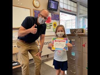 Adeline Careau - Kindergarten Wildcat of the Month