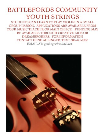 Battlefords Community Youth Strings Program at Bready