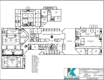 Hildebrandt Intermediate School map of first floor