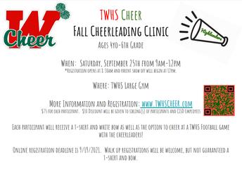 TWHS Fall Cheerleading Clinic