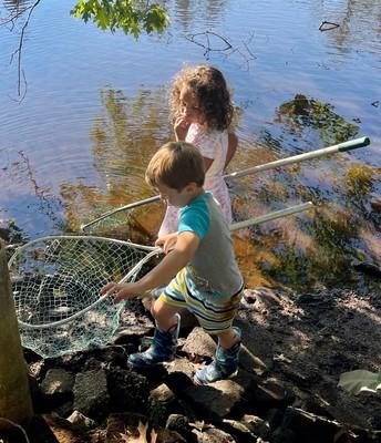 Backyard Adventures ... sinking in the mud!