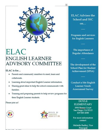 ELAC Nominations are now open!