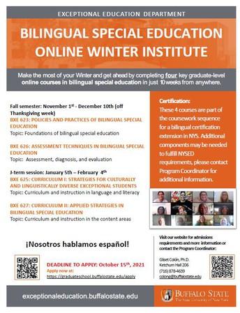 SUNY Buffalo BXE Winter Intensive Institute