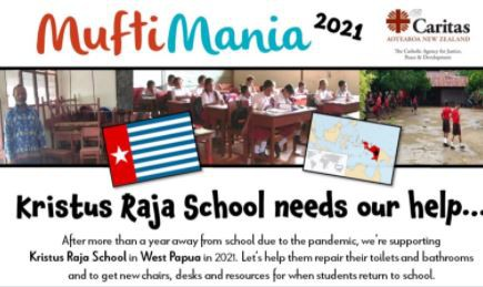 There's resources on the Caritas Aotearoa website where you meet students from Kristus Raja School and find out about what their life is like, what life at school is like compared to our kids: https://caritas.org.nz/mufti-mania
