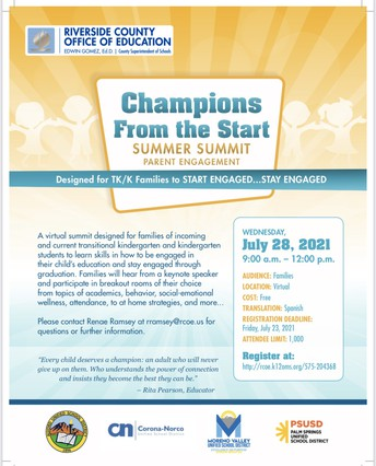 Champions from the Start - Virtual Summer Summit